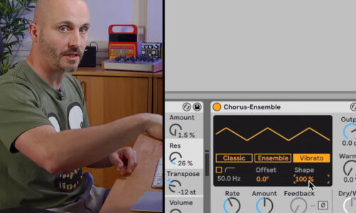 Learn how Ableton Live's Chorus-Ensemble can be used creatively to thicken your sounds
